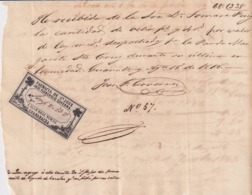 E6365 CUBA SPAIN 1868 GUANABACOA SAN JOSE PHARMACY DRUG STORE INVOICE WITH CINDERELLA. - Historical Documents