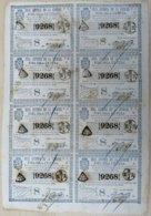 LOT-393 CUBA SPAIN (LG1790) 1845 BILLETE DE LOTERIA SORTEO DEL EMPEDRADO DE LAS CALLES DE LA HABANA. - Lottery Tickets