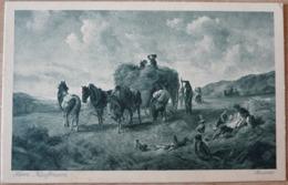 Hermann Kauffmann Heuernte Kutsche Gespann Sammlung 2 Deutsche Maler - Wagengespanne