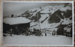 Foto Ansichtskarte Schihütte Skisport Skifahrer Wintersport Almhütte Schnee Gebirge - Wintersport