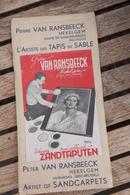 Aalst Affligem Zandtapijt Van Ransbeeck Reclame Aalst Brouwerij  Bier Oa Rosseels Zele Met Postkaarten Borreman Tabak - Documents Historiques