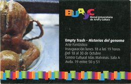 EMPTY TRASH - HISTORIA DEL GENOMA, ARTE FANTASTICO, BUAYC. ARGENTINA AÑO 2010 POSTAL PUBLICIDAD -LILHU - Otros