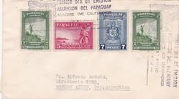 "1942 COVER FDC ""ASUNCION DEL PARAGUAY MADRE DE CIUDADES"" OBLITERATION. MIXED STAMPS RECOMMANDE CIRCULEE TO ARGEN - BLEUP - Paraguay"