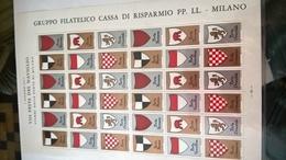 ERINNOFILI VIGNETTE CINDERELLA - 1977 FESTA NAVIGLIO STEMMI PORTE DI MILANO - Vignetten (Erinnophilie)