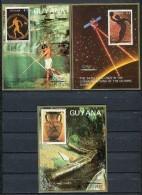 Barcelona 1992. Guyana 1987. Mi 2061-63 ( 3 Blocks) ** MNH. - Verano 1992: Barcelona