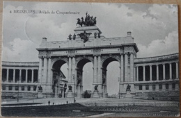 Brüssel Bruxelles Arcade Du Cinquantenaire 1915 - Bauwerke, Gebäude