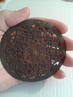 Part Of Horseback Bridle, Slices Of Silvering, Motif Swastika Decoration.diameter 100 Mm. - Archäologie