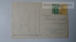 D165338 Austria,  AK Maria Enzersdorf, Schloss Liechtenstein PU 1923 - Stamps  400k + 500k - Maria Enzersdorf