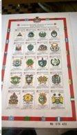 SMOM CONVENZIONI POSTALI 1977/1986 FOGLIO INTEGRO - Malte (Ordre De)