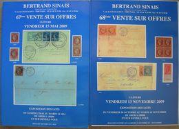 VENTES SINAIS 2009  2 Catalogues De Vente. - Catalogues De Maisons De Vente