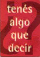 ¿TENES ALGO QUE DECIR? DECILO DE MANERA ORIGINAL, FREECARDS2000. ARGENTINA CIRCA 2000 POSTAL PUBLICIDAD -LILHU - Publicidad