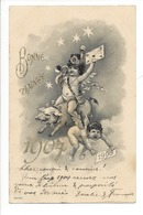 22204 - Bonne Année 1904 Anges Et Cochon - Nouvel An