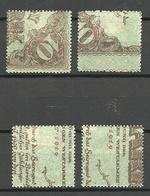 LETTLAND Latvia 1920 Michel 51 - 54 Y * - Lettonia