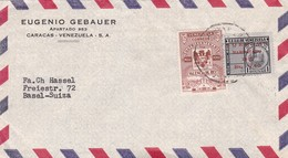 1950'S COMMERCIAL COVER- EUGENIO GEBAUER. CIRCULEE VENEZUELA TO SWITZERLAND- BLEUP - Venezuela