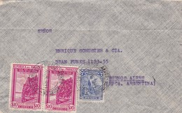 1944 AIRMAIL COVER- CIRCULEE PARAGUAY TO ARGENTINE TIMBRE A PAIR, BANDELETA PARLANTE, AUTRES MARQUES- BLEUP - Paraguay