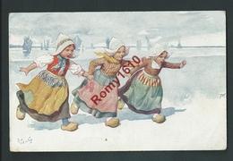 Feiertag.  Petites Hollandaises  Jouant Dans La Neige. B.K.W.I.  343/5    2 Scans, Voir Dos. - Feiertag, Karl