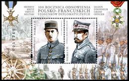 Poland 2019 Fi BLOK 329 Mi BLOCK 284 100th Anniversary Of The Renewal Of Polish-French Diplomatic Relations - Nuevos