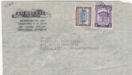1945 COMMERCIAL COVER-SU MANDATA, BIENES RAICES. CIRCULEE ECUADOR TO ARGENTINE. BANDELETA PARLANTE- BLEUP - Equateur