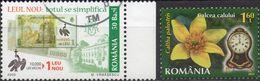ROMANIA 2005/2013 - EMISSIONE NUOVO LEVI + FIORI E OROLOGI - 2 VALORI USATI - 1948-.... Repúblicas