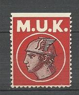 Unknown Poster Stamp Vignette M.U.K. (*) - Vignetten (Erinnophilie)