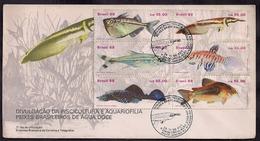 Brasil - FDC - 1988 - Poissons D'eau Douce Brésiliens - Fishes