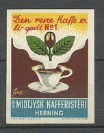 DENMARK Ca 1915 Poster Stamp Kaffe Cafe Reklamemarke Advertising Poster Stamp MNH - Vignetten (Erinnophilie)