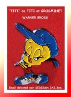"""SUPER PIN'S """"TITI"""" Style Poulbo: Personnage WARNER BROSS émail Cloisonné Base Noire SODESMA SA 3X2,3cm - Films"""
