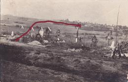 (80) - Hardecourt Friedhof Cimetière  Carte Photo Allemande 1 ° Guerre - France