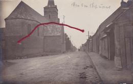 (80) - Mons-en-Chaussée Hauptstrasse Carte Photo Allemande 1 ° Guerre - France