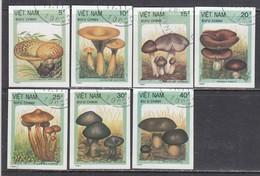 Vietnam 1987 - Mushrooms, Imperforated, Canceled - Vietnam