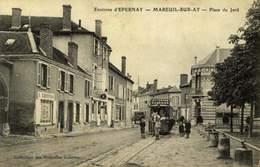 51 MAREUIL SUR AY PLACE DU PETIT JARD TRAMWAY ET CHEVAL  / A 486 - Mareuil-sur-Ay