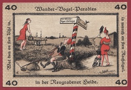 Allemagne 1 Notgeld  40 Pfenning Stadt Neugraben-Hausbruch   (RARE) Dans L 'état N °4256 - Collections
