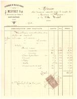 J. MEIFFRET FILS  SAINT RAPHAEL  VAR - ENTREPRISE DE TRAVAUX PUBLICS- 1911- MEMOIRE DES TRAVAUX EXECUTES POUR LE COMPTE - France