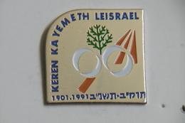 "Pin's - Autres - Fond National Juif ""KEREN KAYEMETH LEISRAEL"" Fond Pour La Création D'ISRAËL - Badges"