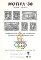 MOTIVA'80 Fellbach / Stuttgart -  Vignette Impression En Noir Des Motifs Jeux Olympiques Grèce 1896 - Zomer 1896: Athene