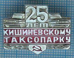 USSR / Badge / Soviet Union / Moldova. Moldavia. Chisinau Taxi Station 25 Years. Transport. Passenger Car. - Other
