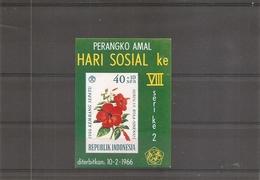 Indonésie - Fleurs ( BF 5 XXX -MNH) - Indonésie