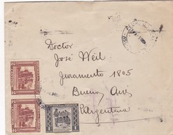1945 COVER CIRCULEE PERU TO ARGENTINA STAMP A PAIR- BLEUP - Paraguay