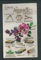 Langage Des Allumettes. Circulé En  1927. Scan Recto/verso - Fantaisies