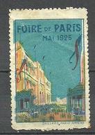 FRANCE 1925 Foire De Paris Vignette Poster Stamp - Commemorative Labels