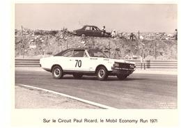 SUR LE CIRCUIT PAUL RICARD, LE MOBIL ECONOMY RUN 1971  PH. JUNIOR  NICE - Cars