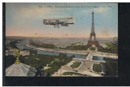 CPA-75-1918-PARIS-ANIMEE-AÉROPLANE ÉVOLUANT AUTOUR DE LA TOUR EIFFEL- - Altri
