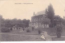 (80) - Chaulnes Villa Particulière   Carte Allemande 1 ° Guerre - Chaulnes