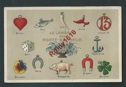 Langage Des Porte-Bonheur. Gaufrée.  Circulé En 1910.   Scan Recto/verso - Fantaisies