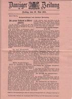 Danziger Zeitung,du 25 Et 28 Mai 1915,1,3 Et 10 Juin 1915 + Extra Blatt Du 22 Juin,   3 Scans - Revistas & Periódicos