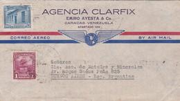 1940'S COMMERCIAL COVER- AGENCIA CLARFIX. CIRCULEE VENEZUELA TO ARGENTINE. BANDELETA PARLANTE- BLEUP - Venezuela