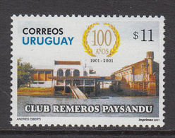 2001 Uruguay Rowing  Complete Set Of 1 MNH - Uruguay
