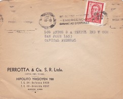 1950'S COMMERCIAL COVER-PERROTTA & CIA. CIRCULEE ARGENTINE. BANDELETA PARLANTE- BLEUP - Argentine