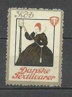 DENMARK Kaufen Sie Dänische Textilwaren ! Propagandamarke Poster Stamp (*) - Vignetten (Erinnophilie)