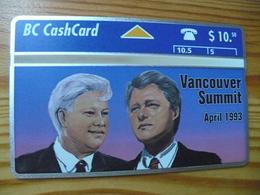 Phonecard Canada  - Bill Clinton, Vancouver Summit - Canada